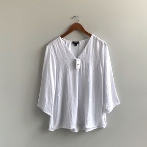 White Lord & Taylor Long Sleeve Blouse